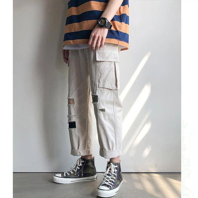 Hip Hop Sweat Pants Embroidery Japanese Style Trousers Sweatpants Streetwear Men Joggers Track Casual Cargo Pants 19
