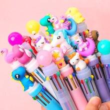 Dix couleurs stylo à bille Kawaii papeterie mignon stylos nouveauté mignon Kawaii stylo étudiant écriture Gel stylos apprentissage fournitures de bureau
