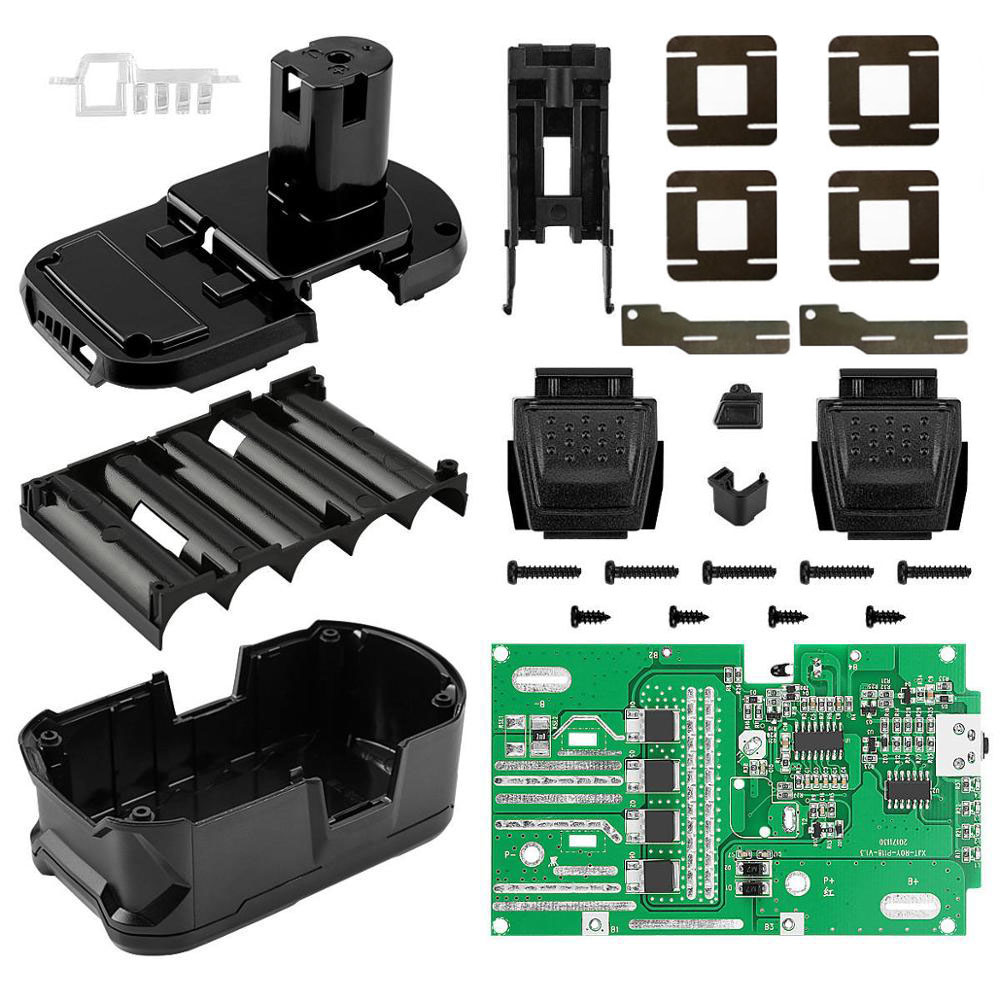 P108 Battery Plastic Case Charging Protection Circuit Board PCB Box Shell For RYOBI 18V P103 P107 BPL-1815/1820G/18151/1820 ONE+