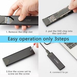 Чехол-адаптер KESU M.2 SSD, USB 3,1 Gen 1 (5 Гбит/с) NGFF B-Key & M + B, внешний корпус жесткого диска для 2242 2260 2280