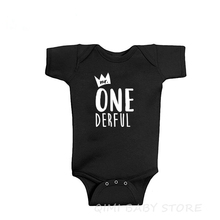 Baby Bodysuit Birthday-Outfit One-Derful Cotton Boys Mr 1st First