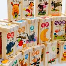 100 шт деревянные строительные блоки домино игра игрушка Дети