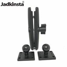 Jadkinsta Base de boule en aluminium Combo Double douille bras socle de montage carré avec ampères modèle de trou pour Garmin pour TomTom GPS