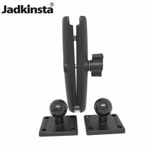 Image 1 - Jadkinsta Base de boule en aluminium Combo Double douille bras socle de montage carré avec ampères modèle de trou pour Garmin pour TomTom GPS