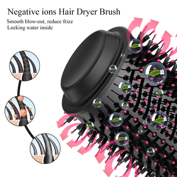 1000W Hair Dryer Hot Air Brush Styler and Volumizer Hair Straightener Curler Comb Roller One