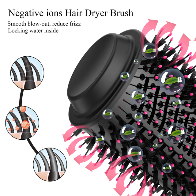 1000W Hair Dryer, Hot Air Brush, Styler and Volumizer, One Step Electric Ion Dryer