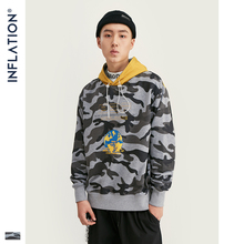 INFLATION Camouflage Men Hoodies 2019 New Fashion Men Block