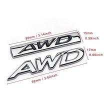 1 stücke Dsycar 3D Metall AWD Auto Seite Fender Hinten Stamm Emblem Abzeichen Aufkleber Decals für Jeep Dodge Mercedes BMW mustang Chevrolet