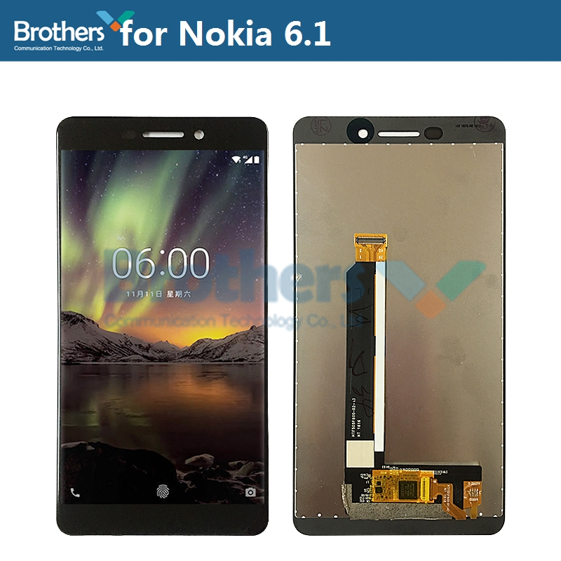 LCD <font><b>Screen</b></font> for <font><b>Nokia</b></font> <font><b>6.1</b></font> LCD Display for <font><b>Nokia</b></font> <font><b>6.1</b></font> LCD Assembly <font><b>Touch</b></font> <font><b>Screen</b></font> Digitizer Phone Replacement Part Tested Working Top image