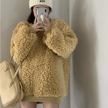 Новый модный толстый свитер из овечьей шерсти пуловер трендовая