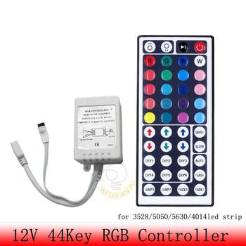 Kontroler Led 44 klawisze LED IR RGB luces kontroler LED pilot zdalnego sterowania na podczerwień DC12V sterowanie przez WiFi dla listwy RGB LED światła tanie i dobre opinie CN (pochodzenie) 44key controller Kontroler RGB 2year 144w 2835 3528 5050 ROHS rgb led strip Common 12-24 v