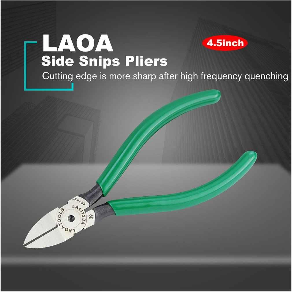 Laoa Cr-V Plastic Tang Side Knipt Tangen Sieraden Elektrische Draad Kabel Cutters Snijden Electrictrician Tool