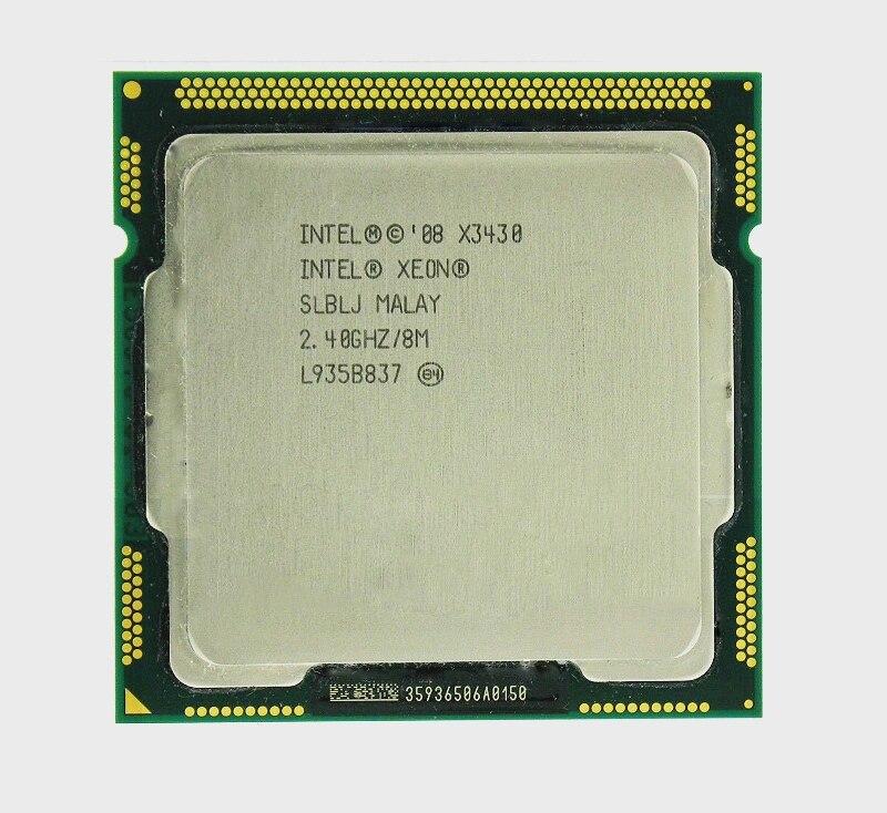 Intel Xeon Original X3430 CPU Quad Core (2,4 GHz LGA 1156 8M Cache 95 W) de CPU del servidor INTEL QHQG versión de ingeniería ES de I7 6400T I7-6700K 6700K procesador CPU 2,2 GHz Q0 paso quad-core socket 1151