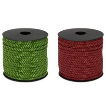 2x Moocy Camping Paracord 4mm 50 Meters 7 Strands Umbrella Rope for Climbing Survival Hiking Clothesline Green & Red(China)