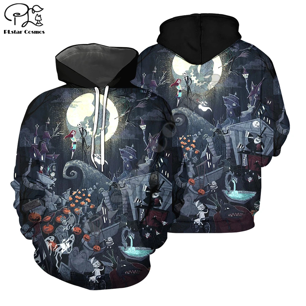 Halloween Nightmare before Christmas jack skellington Horror Funny Long Sleeve Women/Men 3D Printed Hoodies Jacket pullover