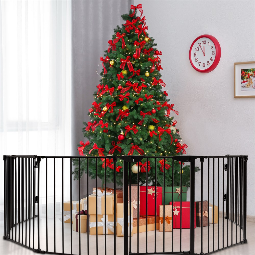 Metal Gate Baby Pet Fence Safe Playpen