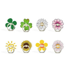 Cartoon Sunflower Lucky Flower Phone Finger Ring Mobile Phone Stand Holder For iPhone Huawei Acrylic Phone Holder All Smartphone