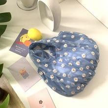 Cute Mesh Shoulder Bags Women's New Casual Fresh Flower Embroidery Tote Handbag