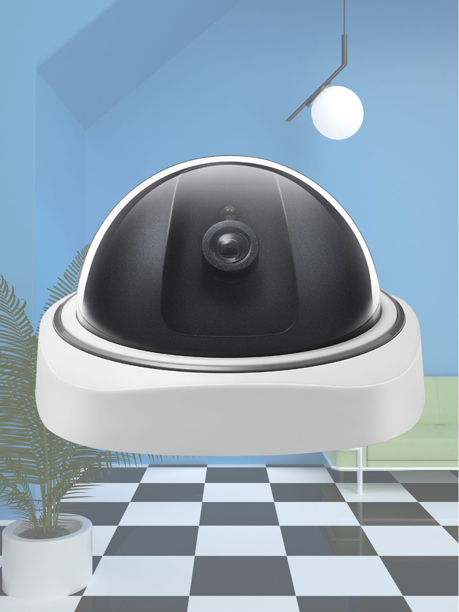 Fake CCTV Surveillance-Camera Led-Lights Flashing Dummy Dome Waterproof Smart Indoor/outdoor