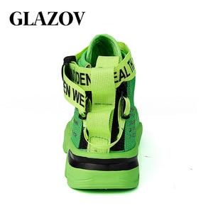 Image 4 - Männer High Top Sneakers Mode Trend Heißer Verkauf Komfortable Mann Casual Schuhe Hip Hop Haspe Im Freien Nicht slip atmungsaktive Männer Schuhe
