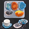 Silicone Coaster Molds Resin Jewelry UV Epoxy Pressed Flower Irregular Cloud Shape Molds For Jewelry Making Tools DIY Craft 1