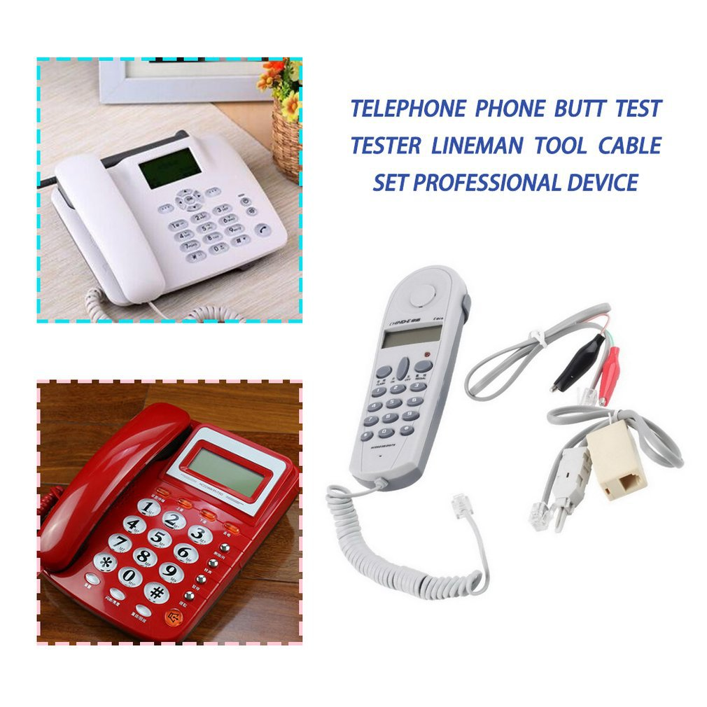 Telephone Phone Butt Test Tester Lineman Tool Network Cable Set Professional Device C019 Check FOR Telephone Line Fault 3