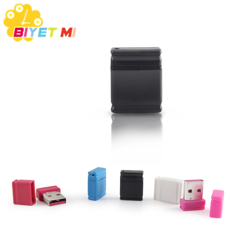 Biyetimi Usb Flash Drive Pen Drive 64gb Cle Usb Stick 32gb 16gb 8gb 4gb Little U Stick 2.0 Waterproof Plastic PC Gift