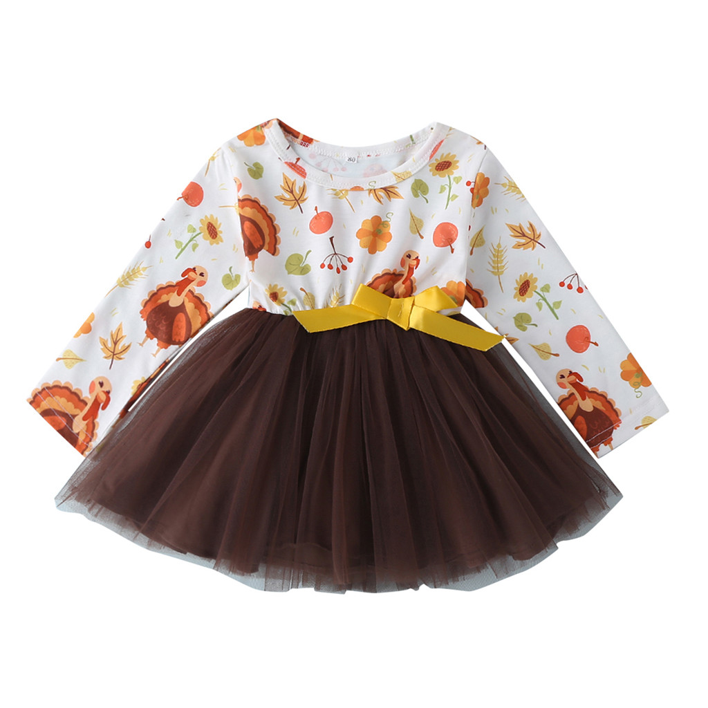 >Baby Baby Girls <font><b>Dress</b></font> Cartoon Turkey Thanksgiving Day Tutu Tulle Outfits Set girls <font><b>dresses</b></font> <font><b>vestido</b></font> <font><b>kids</b></font> <font><b>dresses</b></font> for girls A1