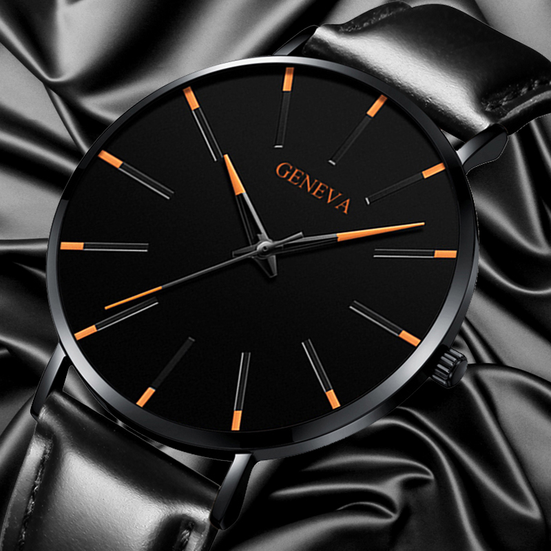 Fashion Mens Minimalist Watches Men Ultra Thin Watch Luxury Men's Business Casual Leather Quartz Wrist Watch Relogio Masculino