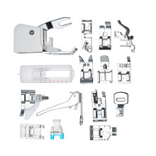 15pcs Sewing Machine Presser Walking Feet Kit Compatible Set for Low Shank Sewing Machine For Brother/Singer/Janome/Kenmore(China)
