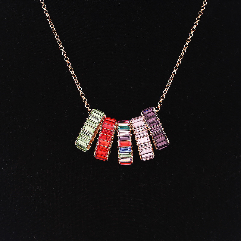 2019 NEW fashion necklace collar Flower Necklaces & Pendants trendy choker chunky metal chain statement simulated pearl necklace (3)