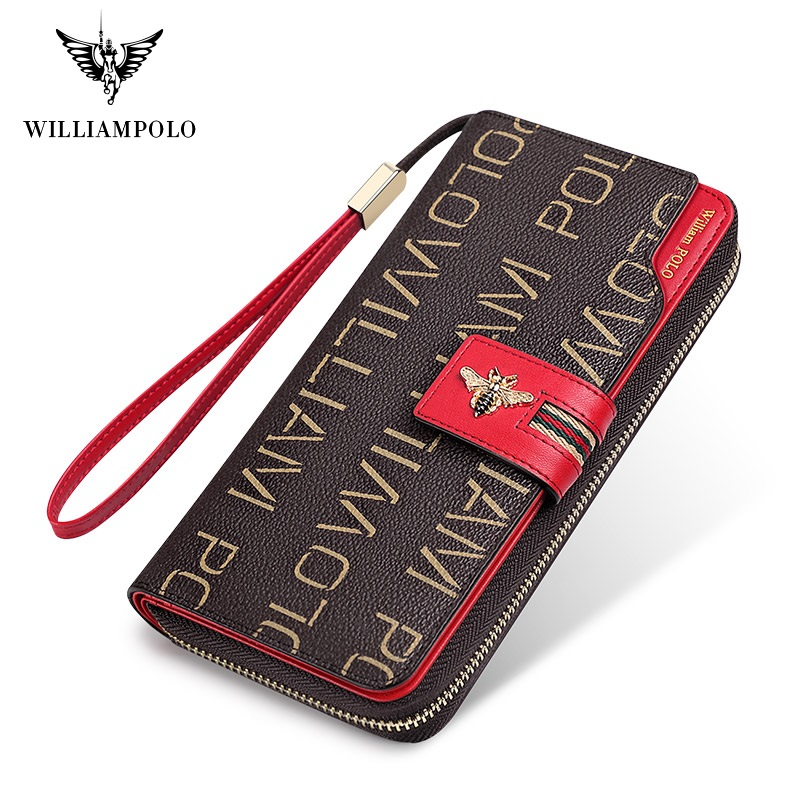 2020 New Women Leather Wallet Female Purses Big Capacity Hasp Zipper Purse Ladies Long Wristlet Clutch Coin Card Holders