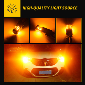 Image 5 - 2x T20 W21W WY21W 7440 7440NA Led Richtingaanwijzer Lampen Canbus Foutloos Geen Hyper Flash 2800 Lumen Amber geel Wit Rood