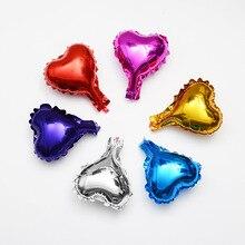 10 шт. 5 дюймов в форме сердца пятиугольник алюминиевая пленка шары для свадьбы и дня рождения вечерние украшения Детские игрушки воздушный шар