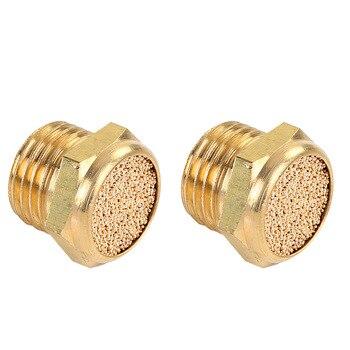 10pcs Brass Silencer Muffler Thread M5 1/8 1/4 BSP Pneumatic Plug Air  Connector BSLM-M5/01/02 Valve Fitting pneumatic brass exhaust muffler bsl m5 1 8 1 4 3 8 1 2 silencers fitting noise filter reducer connector copper