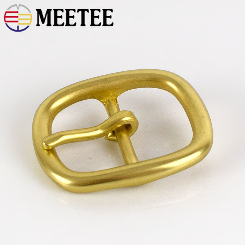 Solid Brass Belt Buckles For Women Metal Pin Buckles For Belt 28-29mm Belt Head DIY Leather Craft Jeans Accessories KY986