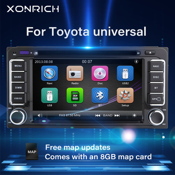Autoradio 2 din GPS Car DVD Player For Toyota Land Cruiser 100 200 Prado 120 Corolla 150 Rush RAV4 Hiace Yaris Hilux Navigation image