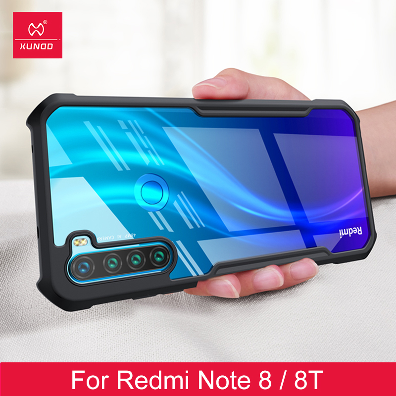 Shookproof Case For Redmi Note 8T Case Protective Cover Airbag Bumper Ring Back Cover Transparent Shell  For Xiaomi Redmi Note 8