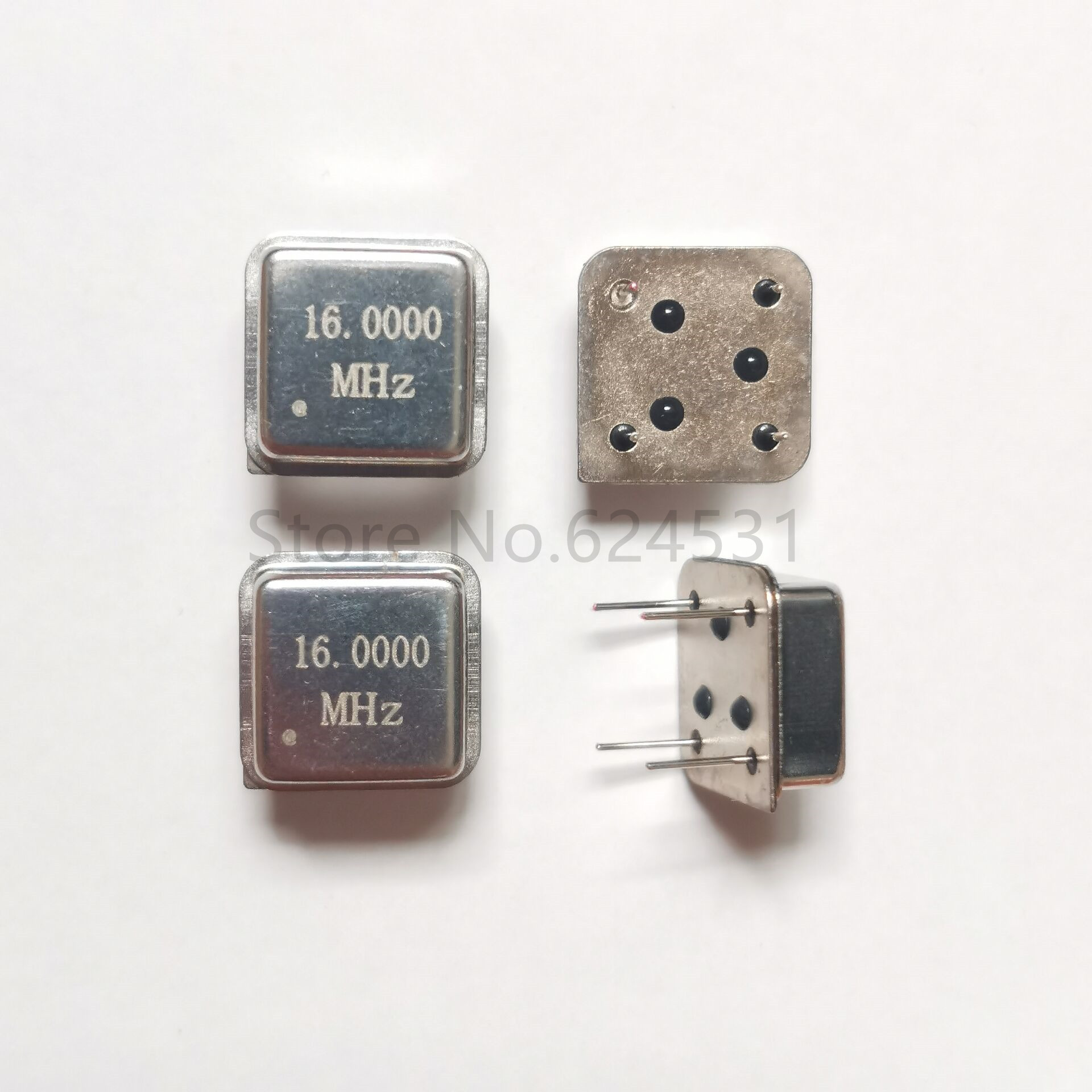 10pcs In-line Active Crystal Oscillator Clock Square Half Size DIP-4 OSC 16MHZ 16.000MHZ 16M