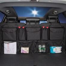 Tylne siedzenie samochodu przechowywanie z tyłu torba Multi wiszące siatki kieszeń bagażnik Case Organizer Auto układanie Tidying wyposażenie wnętrz