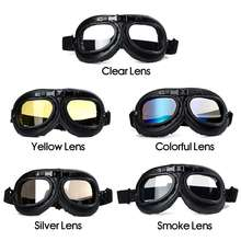 Motorcycle Vintage Goggle Retro Eyewear Goggle Glasses Helmet Goggles Motrcross Scooter Bike Cycling Windproof
