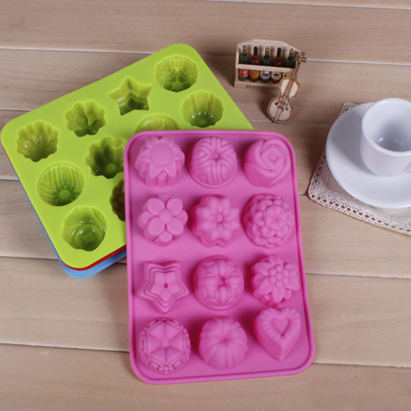 Image 4 - Cake Baking Mould  Silicone Soap Mold 3D Chocolate Supplies 12 hole Baking Pan Tray Molds  Candy Making Tool DIY Jelly mold-in Soap Molds from Home & Garden