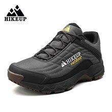 Hikeup verão men caminhadas sapatos de desporto ao ar livre sapatos de escalada tático tênis de trekking caça acampamento dos homens