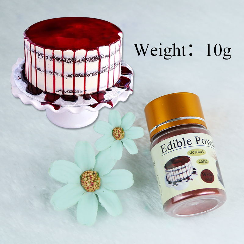 Edible Food Coloring Wine Red Food Powder 10g In Baking&Pastry Cake Decorations Chocolate Colorant Comestibles Baking Ingredient