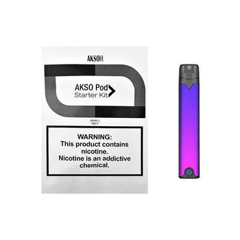 HCIGAR AKSO OS prosty zestaw wkład wielokrotnego napełniania waporyzator pod MTL Starter elektroniczny papieros tanie i dobre opinie Z Baterią Tytoń Rur Brak Metal Vape Pen AKSO OS Pod Kit 420mAh Wbudowany 108x 20x 9 5mm 1 4ml 1 8ohm 1 5-2 h Micro USB