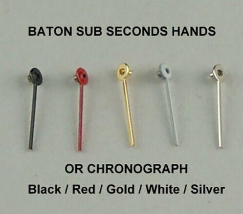 Vintage em Linha Variedade de 400 Baton Segundos Mãos Cronógrafo Pequeno Relógio Dial Chrono Reta Pçs Sub