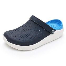 2019 Summer Men's Crocks Clogs Sandals EVA Lightweight Beach Slippers For Men Women Unisex Garden Clog Shoes Crok AdultoBreatha