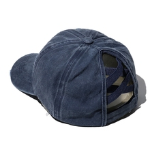 Baseball-Cap Trucker-Hat Cross-Ponytail High-Messy Washed Leopard Ripped Sports Women