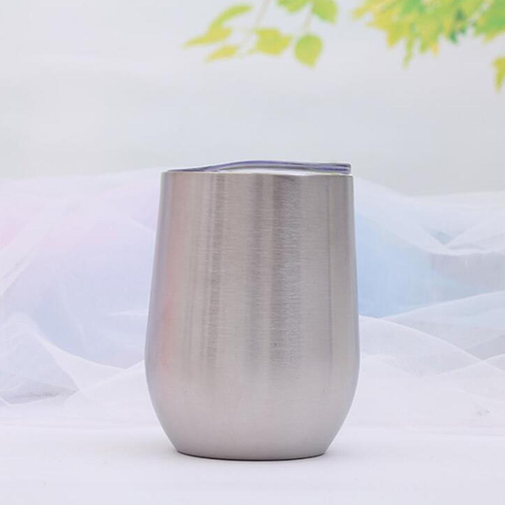 HobbyLane Vacuum Insulated Wine Tumbler Stemless Steel Reusable Keep Drinks Hot or Cold Valentine Christmas Birthday Gifts