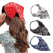 Fashion Women Girls Summer Bohemian Hair Bands Print Headbands Vintage Triangle Turban Bandage HairBands Hair Accessories
